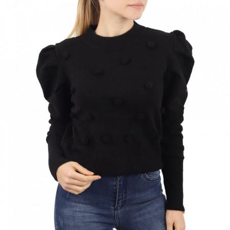 Bluză pentru dame cod F90 Black - Bluzăpentru dame - Deppo.ro