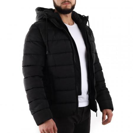 Geacă de iarnă Edgar Neagră - Geacă stilată de iarnă pentru bărbaţi, prevăzută cu glugă, în partea din faţă jacheta este prevăzută cu un fermoar lung din plastic rezistent, aceleaşi tipuri de fermoare, sunt aplicate şi la baza buzunarelor laterale. - Deppo.ro
