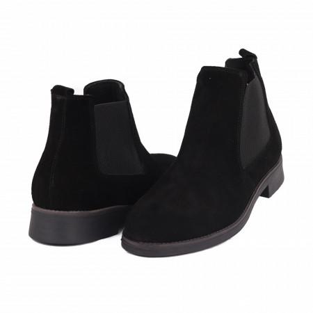 Ghete din piele naturală cod 41873 Negre - Produs din piele naturală, foarte confortabili cu un calapod comod - Deppo.ro