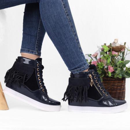 Pantofi Sport Carley Cod 672 - Pantofi sport din piele ecologică  Model cu franjuri  Închidere prin șiret  Foarte comfortabili - Deppo.ro