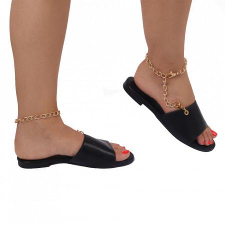 Saboți pentru dame cod OD363 Black - Pantofi cu un model, foarte confortabili potriviți pentru birou sau evenimente speciale. - Deppo.ro
