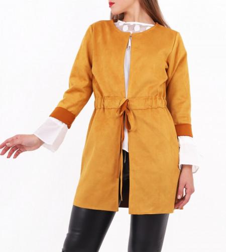 Sacou Loreta Camel Închis - Cumpără îmbrăcăminte și încăltăminte de calitate cu un stil aparte mereu în ton cu moda, prețuri accesibile și reduceri reale, transport în toată țara cu plata la ramburs - Deppo.ro