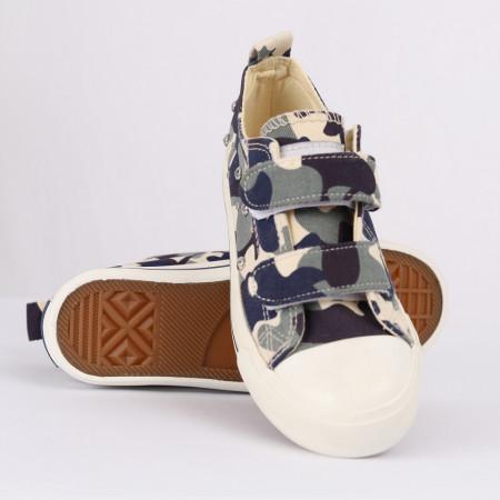 Sneakers pentru băieți cod HT889 Albastru Camuflaj - Sneakers pentru băieți, foarte comozi, ideali pentru ieșiri si practicarea exercitiilor în aer liber - Deppo.ro