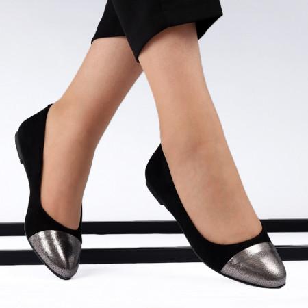 Balerini din piele naturală Cod 106 Black - Balerini damă din piele naturală Foarte confortabili Conferă lejeritate si eleganță - Deppo.ro