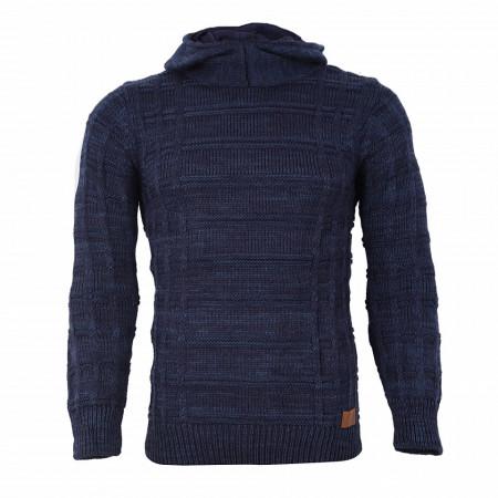 Bluză Aaron Bleumarin - Bluza este cel mai versatil articol vestimentar din sezonul rece, o piesă cu reputaţie a stilului casual având compoziţia 50% lână 50% acrilic - Deppo.ro