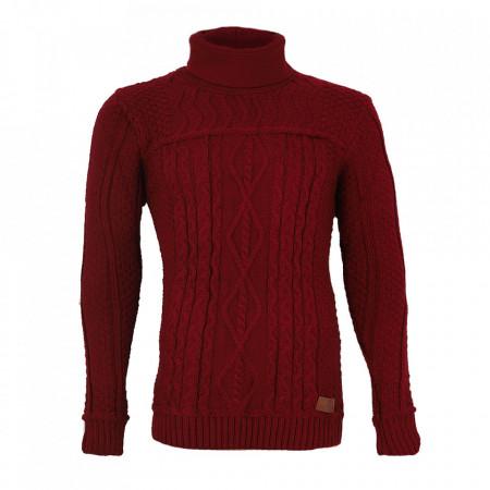 Bluză Brian Bordo - Bluză de culoare bordo deschis, bluza este cel mai versatil articol vestimentar din sezonul rece, o piesă cu reputaţie a stilului casual având compoziţia 50% lână 50% acrilic - Deppo.ro