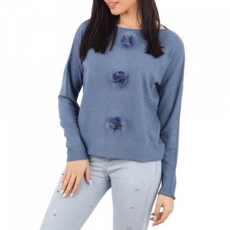 Bluză pentru dame cod FST-01 Albastru - Bluzăpentru dame. - Deppo.ro