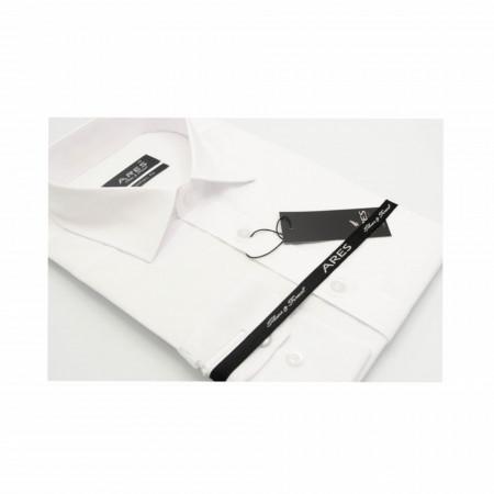 Cămaşă Comfort Fit Albă cu mânecă lungă - Cămaşă pentru bărbaţi cu mânecă lungă şi croială Comfort Fit. Compoziţie 80% bumbac, 20% poliester. - Deppo.ro
