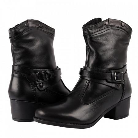 Cizme din piele naturală cod 2625 Black - Cizme din piele naturală ideale pentru sezonul rece Calapod comod - Deppo.ro
