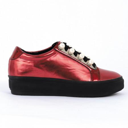 Pantofi pentru dame cod A199 Vișini - Pantofii îți transformă limbajul corpului și atitudinea. Te înalță fizic și psihic! Pantofi pentru dame din piele ecologică lăcuită - Deppo.ro