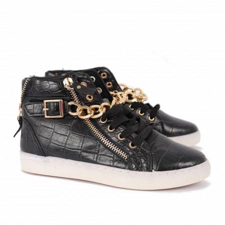 Pantofi Sport-Casual pentru bărbați cod OMS110 Negri - Pantofi sport pentru bărbați, foarte comozi, ideali pentru ieșiri în aer liber - Deppo.ro