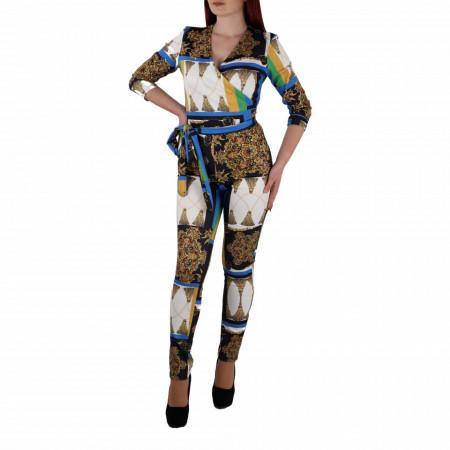 Salopeta Peyton Multicolor - Salopetă din material elastic, casual, potrivită pentru orice eveniment! Imbrac-o și strălucește la următoarea petrecere! - Deppo.ro