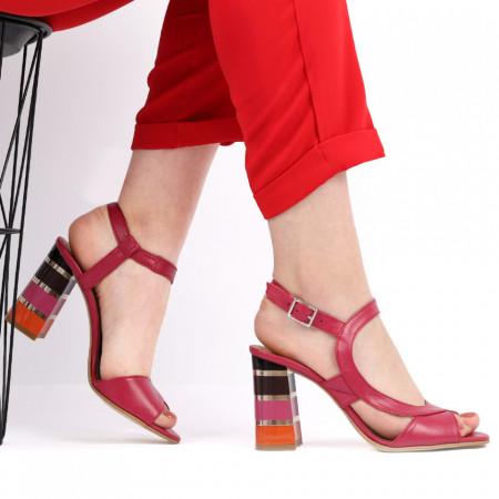 Sandale pentru dame din piele naturală cod S22 Siclam - Sandale pentru dama din piele naturală  Închidere prin baretă  Calapod comod - Deppo.ro