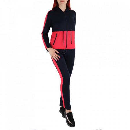 Trening pentru femei cod Redics-F01 Pink - Trening pentru femei pe bleumarin, compus din haină și pantalon - Deppo.ro