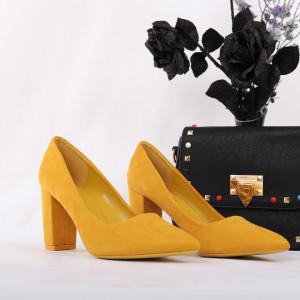 Pantofi cu toc cod OD0001 Galbeni