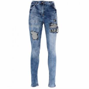 Pantaloni de blugi pentru dame cod 2171 Albastri