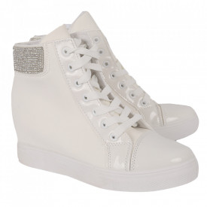 Pantofi sport tip sneakers damă cod EA-2900-36 White