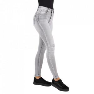 Pantaloni de blugi pentru dame cod ZX2802 Gri
