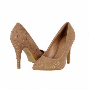 Pantofi cu toc cod 3C0077 Bej