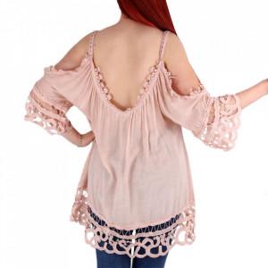 Bluză pentru dame cod 1123 Pink - Bluză pentru dame Conferă o ținută lejeră de vară - Deppo.ro