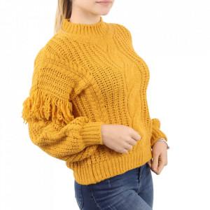 Bluză pentru dame cod F50 Yellow - Bluzăpentru dame - Deppo.ro