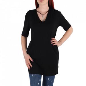 Bluză pentru dame cu mânecă scurtă cod BLZZ2 Black