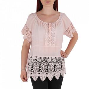 Bluză pentru dame tip cămășuță cod 91071 Pink