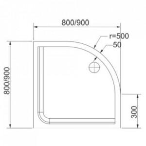 Cădiță de duș CLARA - DIMENSIUNI (L x L x H): 80 cm x 80 cm x 4 cm 90 cm x 90 cm x 4 cm DETALII TEHNICE CADITA DUS CLARA Echipament disponibil:  masca 2 laturi; suport metalic reglabil; sifon VIEGA-Germania; Caracteristici: rezistenta; sistem anti-alunecare masca detasabila - Deppo.ro
