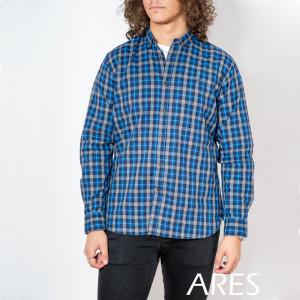 Cămaşă casual cu mânecă lungă cod ARS15 ALBASTRU - Camasa pentru barbati cu maneca lunga croiala confort fit. O camasa potrivita atat pentru o zi la birou, cat si pentru o iesire in oras cu prietenii. Compozitie: 100% Bumbac - Deppo.ro