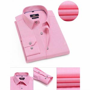 Cămaşă Comfort Fit Roz cu mânecă lungă