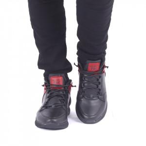 Ghete Sport cod 60921 Negre - Ghete sport îmblănite, din piele ecologică, foarte confortabil cu un calapod comod și închidere cu șiret - Deppo.ro