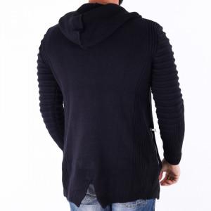 Jerseu Amir Bleumarin - Este o haină de iarnă pentru bărbați foarte lejeră și călduroasă,se închide cu fermoar, de culoare vişinie cu mâneci lungi și dispune de o glugă - Deppo.ro