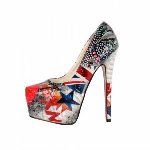 Pantofi cu toc cod 8067 Lps - Pantofi cu toc și platformă foarte înalte pentru dame care vă pot completa o ținută fresh în acest sezon. Incalțî-te cu această pereche de pantofi la modă și asorteaz-o cu pantalonii sau fusta preferată pentru a creea o ținută deosebită. - Deppo.ro