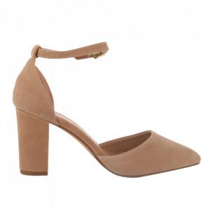 Pantofi cu toc cod 850-26 Beige