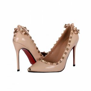 Pantofi cu toc cod A1136 Nude