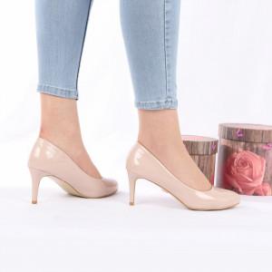 Pantofi cu toc cod AB2 Nude