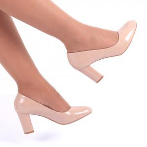 Pantofi cu toc cod C12 Bej