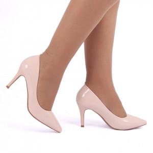 Pantofi cu toc cod C22 Bej