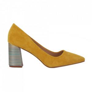 Pantofi cu toc cod OD0204 Galbeni