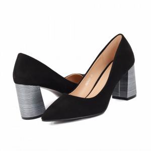 Pantofi cu toc cod OD0204 Negri