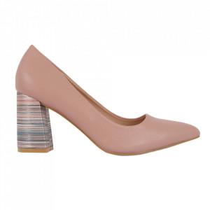 Pantofi cu toc cod OD0205 Pink