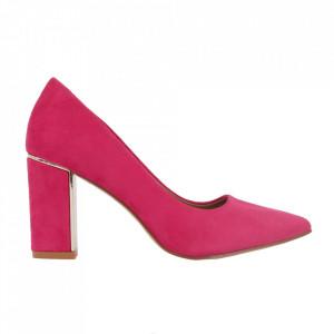 Pantofi cu toc cod OD0262 Fuschia