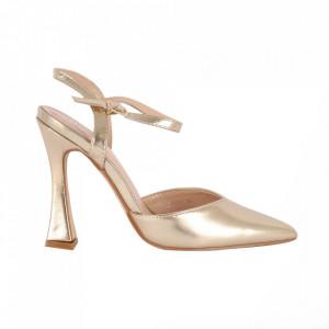Pantofi cu toc cod OD0334 Gold