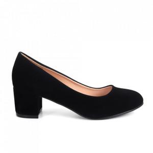 Pantofi cu toc din piele ecologică cod 3008-1 Black