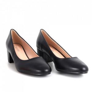 Pantofi cu toc din piele ecologică cod OD0134 Black