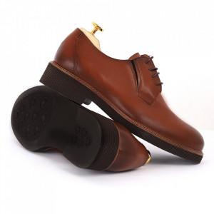 Pantofi din piele naturală Andres Maro - Pantofi din piele naturală, model simplu, finisaje îngrijite cu undesign deosebit - Deppo.ro