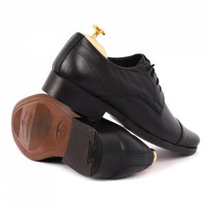 Pantofi din piele naturală Ben Negri - Pantofi din piele naturală pentru bărbați, model simplu, finisaje îngrijite cu undesign deosebit - Deppo.ro