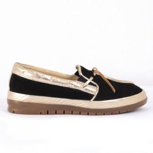 Pantofi din piele naturală bleumarin Cod 1257
