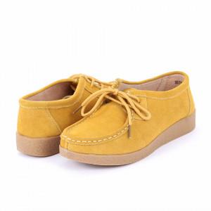 Pantofi din piele naturală Caylee Yellow