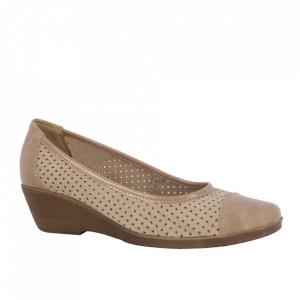 Pantofi din piele naturală cod 0-23 Bej